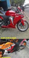 cover engine cbr250 terpasang