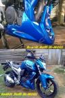 cover engine model3 biru byson terpasang