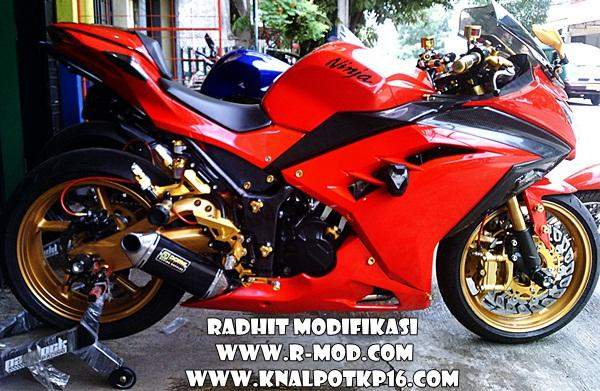ide modifikasi ninja 250 fi warna merah