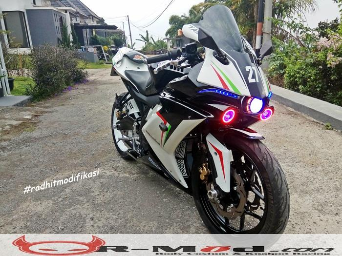Headlamp NEW R1M For R15 V2 VERSI (LE) »» Radhit Modifikasi