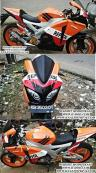 PAKET FULL SET MODEL CBR1000 Fire Blade for New CBR 150/250